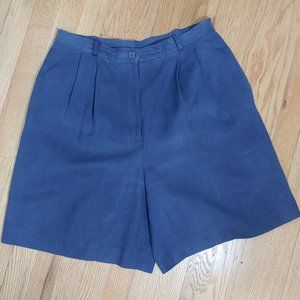 VTG Ultra High Waist Silk Talbots Mom Shorts